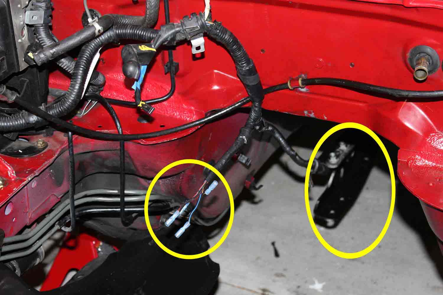 miata community wiki automatic to manual conversion four wires isolated and wire harness rewrapped you can make out the end of the ppf in the image